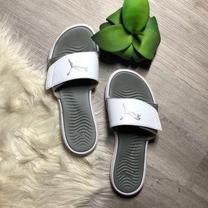 White Puma Slides